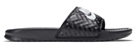 Nike Benassi 'Just Do It' Black/White Women's Slide