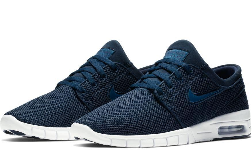 pick up 37c43 0bb13 Nike SB Stefan Janoski Max Obsidian Blue  White Shoes