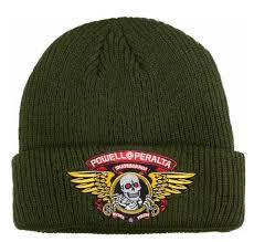 Powell Peralta Winged Ripper Military Green Beanie