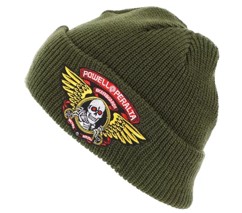 f8dfed6ce3dd1f Powell Peralta Winged Ripper Military Green Beanie | Online/Instore ...