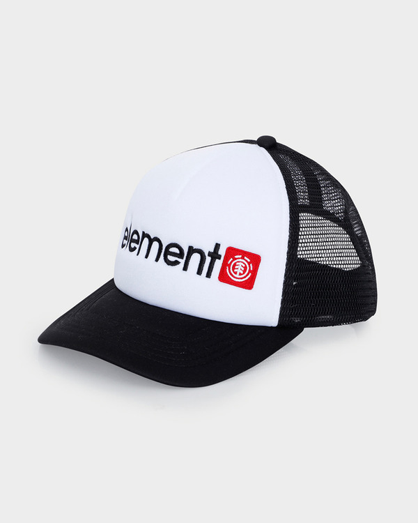 Element Horizontal White/Black Trucker