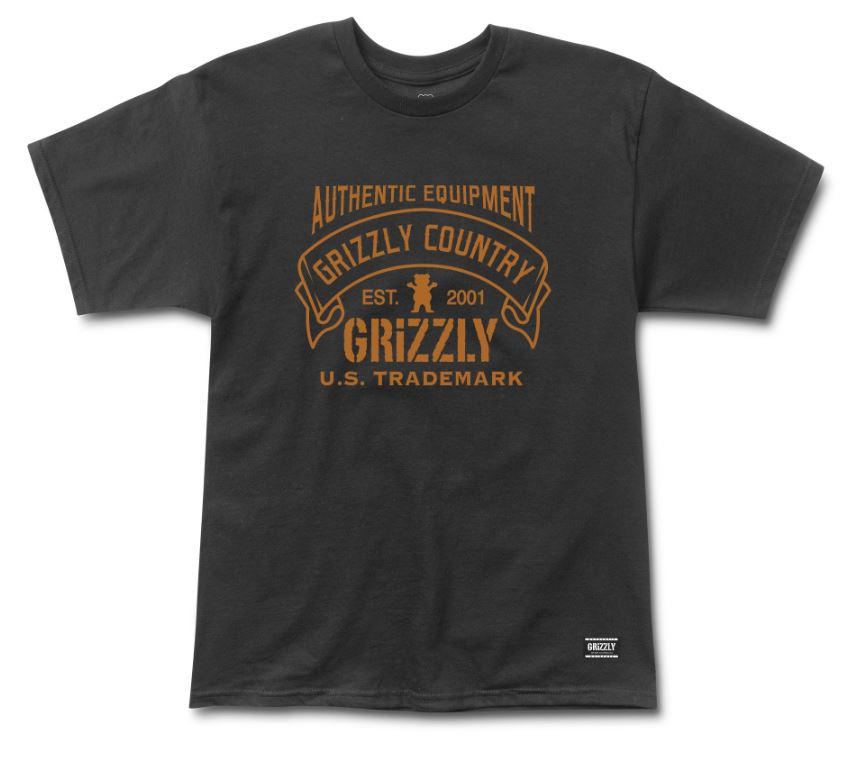 Grizzly Country Black Tee