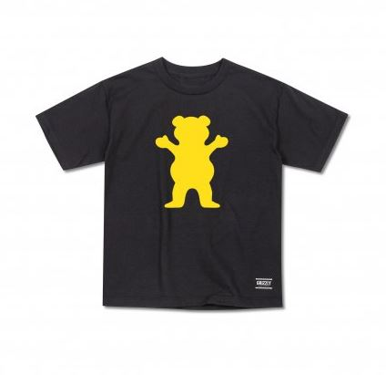 Grizzly OG Bear Black/Gold Youth Tee