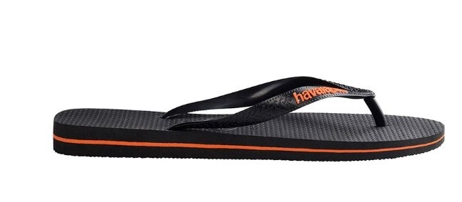 b7ca8ffd8 The product is already in the wishlist! Browse Wishlist · Havaianas Men s  Rubber Logo Black Neon Orange Thongs