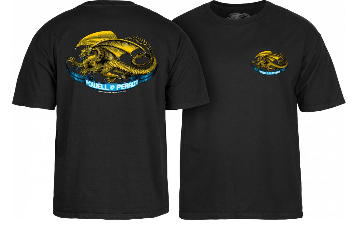 Powell Peralta Oval Dragon Black Youth Tee
