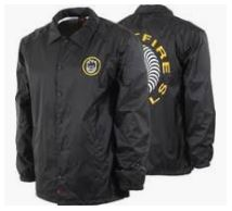 Spitfire Classic Swirl Black/Yellow Coaches Jacket