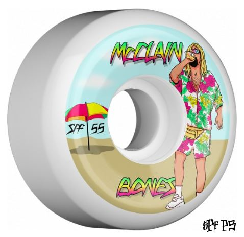 Bones SPF McClain Beach Bum 55mm x 84B Wheels
