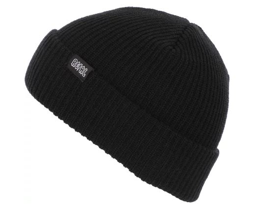 Real Deeds Clip Label Black Beanie