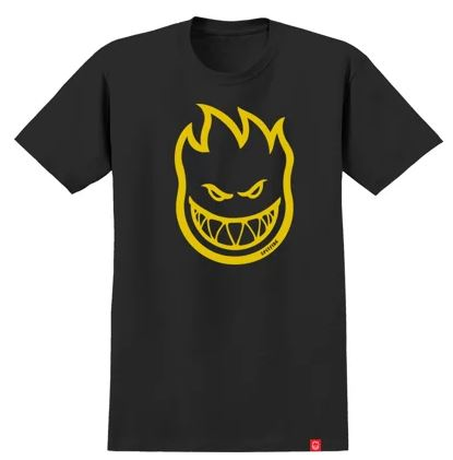 Spitfire Bighead Black/Yellow Youth Tee