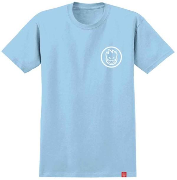 Spitfire Classic Swirl Powder Blue/White Youth Tee