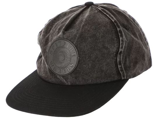 Spitfire OG Swirl Patch Black Acid Wash/Black Snapback
