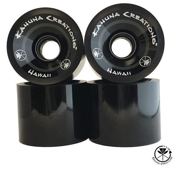 Kahuna Creations 70mm x 82a Black Wheels