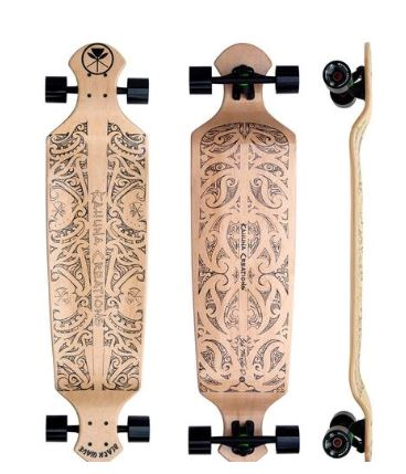 "Kahuna Creations Black Wave Natural Drop Deck 43"" Complete"