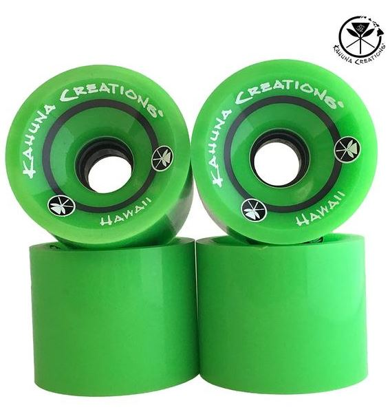 Kahuna Creations 70mm x 82a Green Wheels