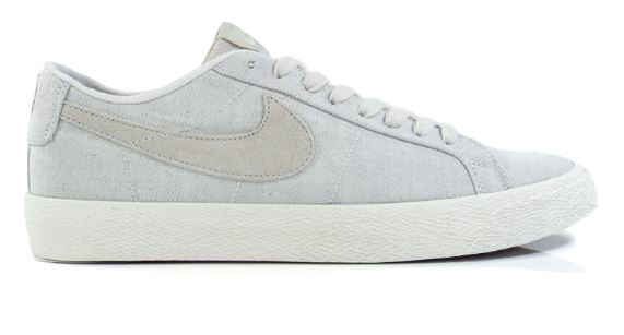 Nike SB Zoom Blazer Low Deconstructed White Canvas Shoes