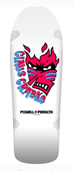 "Powell Peralta Claus Crabke White 10.25"" Deck"