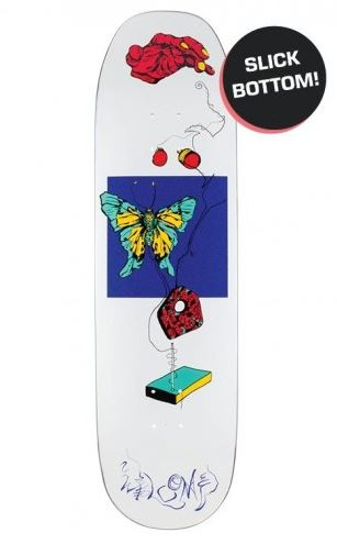 "Welcome Puppet Master on Bacculas White Lightning White 8.75"" Deck"