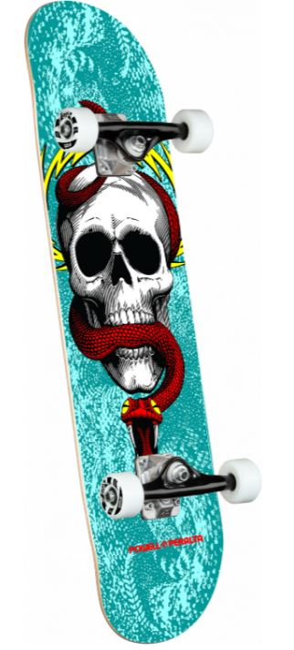 "Powell Peralta McGill Skull & Snake One Off Turquoise 7.75"" Complete"