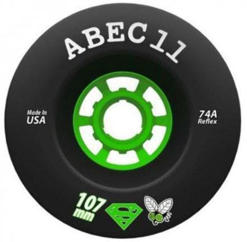 Abec 11 Super Fly Wheels 107mm x 74a Black Wheels