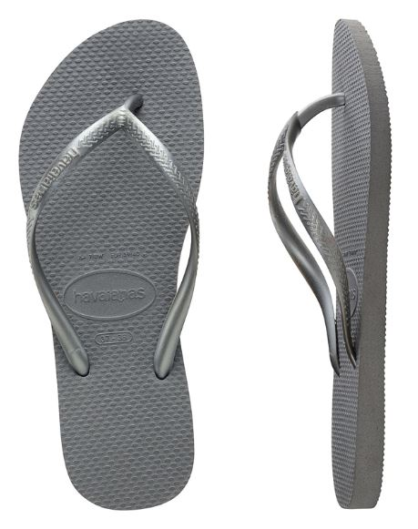 Havaianas Women's Slim Metallic Steel Grey Thongs