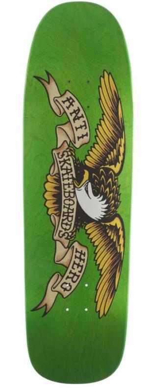 "Anti Hero Shaped Eagle Overspray Green Giant 9.56"" Deck"