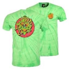 Santa Cruz x TMNT Turtle Power Spider Green Youth Tee