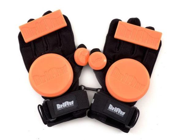 Drifter Orange Freeride Slide Gloves