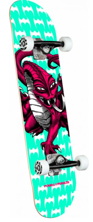 "Powell Peralta Cab Dragon One Off Teal 7.75"" Complete"