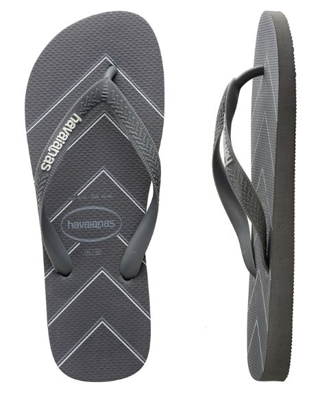 Havaianas Men's Modern Stripes Steel Grey Thongs