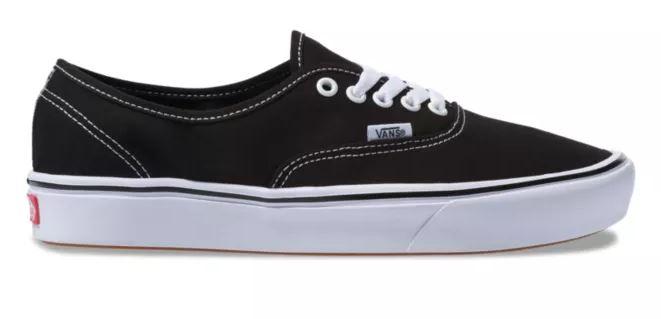 Vans Authentic ComfyCush Black/White Shoes