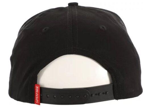 Spitfire Bighead Circle Patch Black/White/Red Snapback