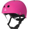 Triple 8 Lil 8 Neon Pink Rubber Helmet
