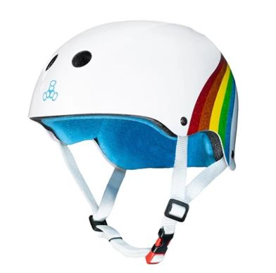 Triple 8 Certified Rainbow Sparkle White Limited Edition Helmet