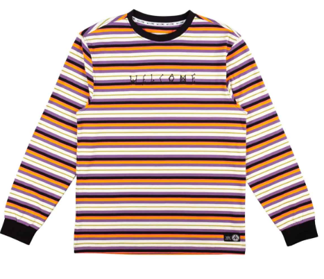 Welcome Surf Stripe Dusk Yarn Dyed Longsleeve Tee