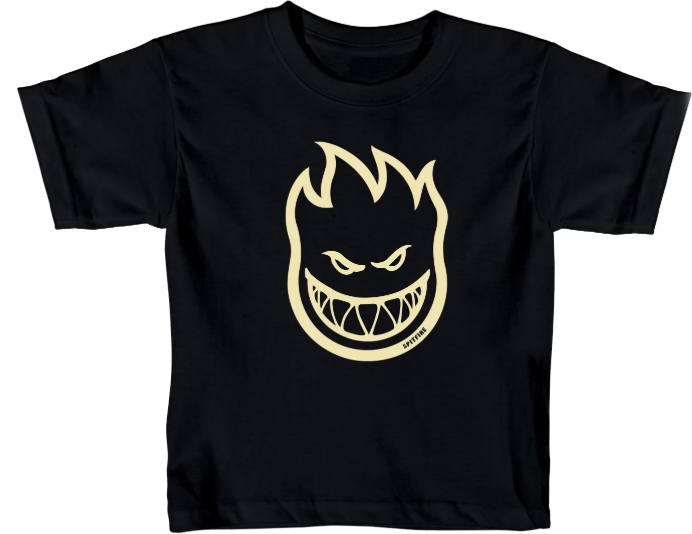 Spitfire Bighead Black/Raw Toddler Tee
