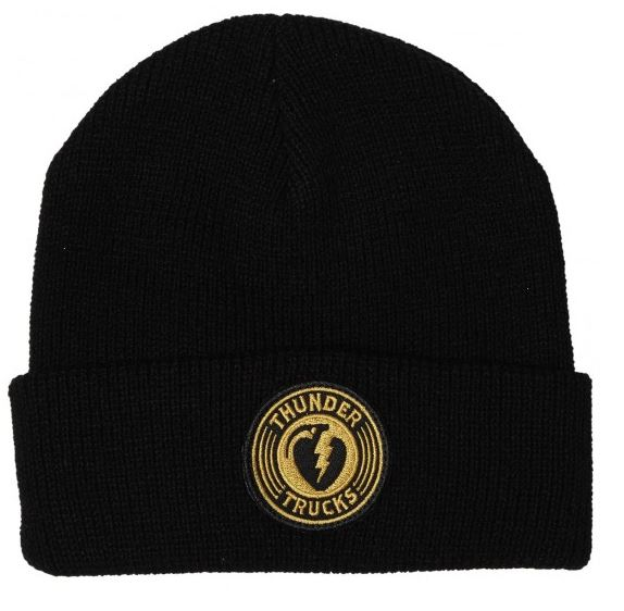 Thunder Charged Grenade Black/Gold Cuff Beanie