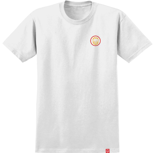 Spitfire Classic Swirl White/Yellow/Orange/Red Youth Tee