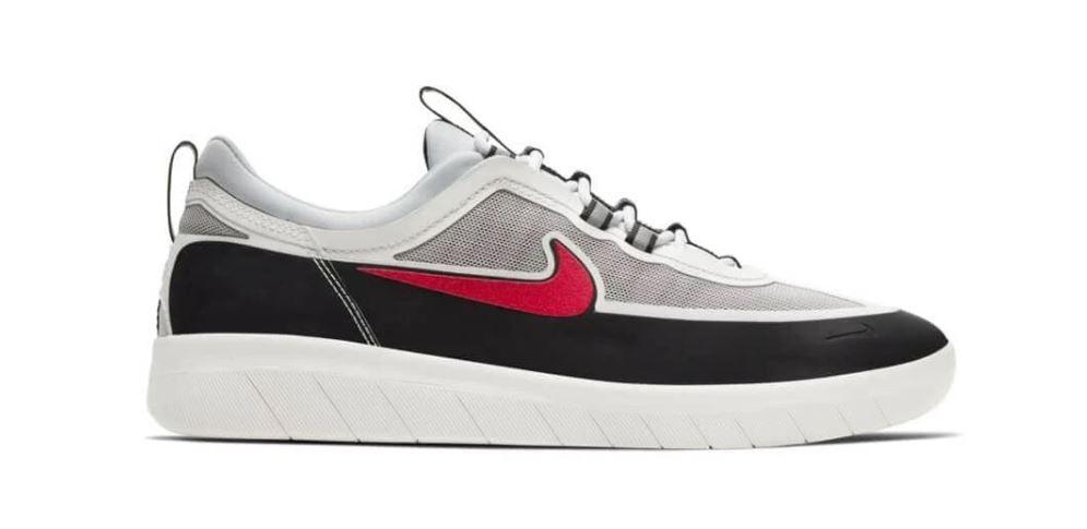 Nike SB Nyjah Free 2 Black/Metallic Silver/Black/Sport Red Shoes