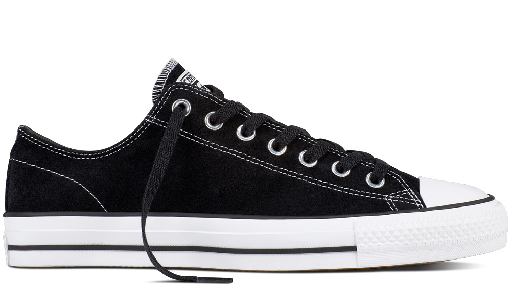 Converse CTAS Pro Low Suede Black/White Shoes
