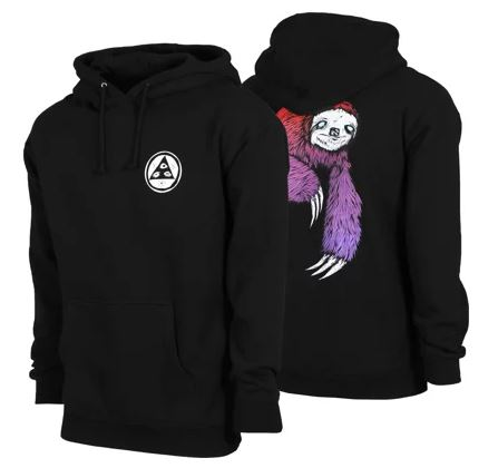 Welcome Sloth Black/Red/Purple Hoodie