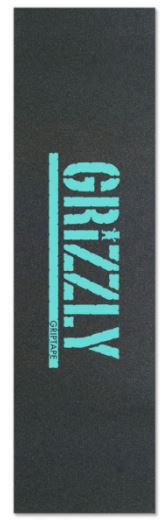 Grizzly Stamp Print Teal Griptape