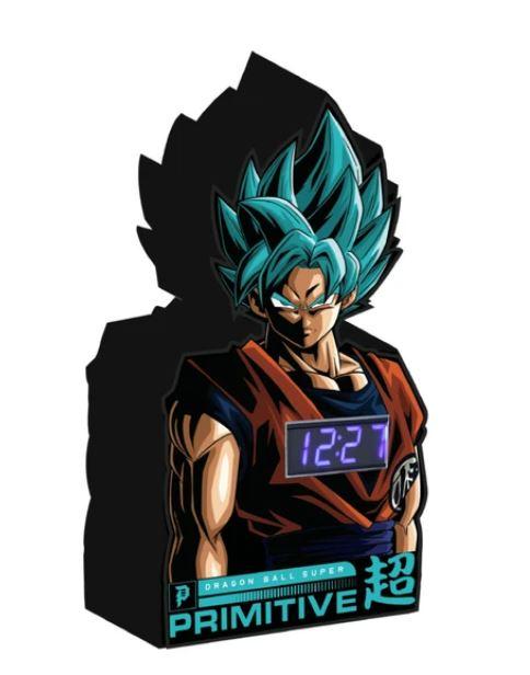 Primitive x Dragon Ball Z SSG Goku Digital Clock