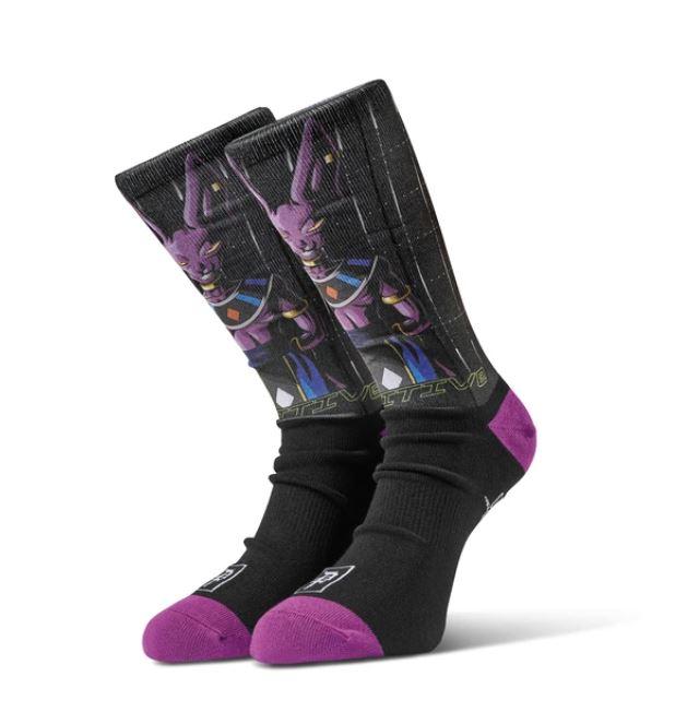 Primitive x Dragon Ball Z Shadow Beerus Black Socks