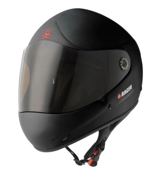 Triple 8 Racer Downhill Helmet - Black Rubber