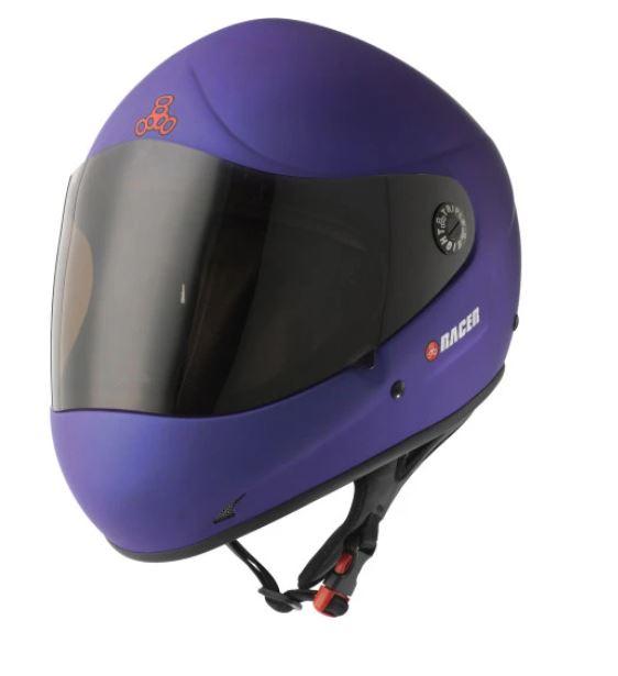 Triple 8 Racer Downhill Helmet - Blue Rubber