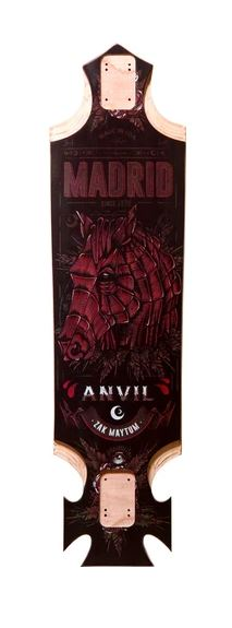 Madrid Pro Series Anvil 37.4 Longboard Skateboard Deck