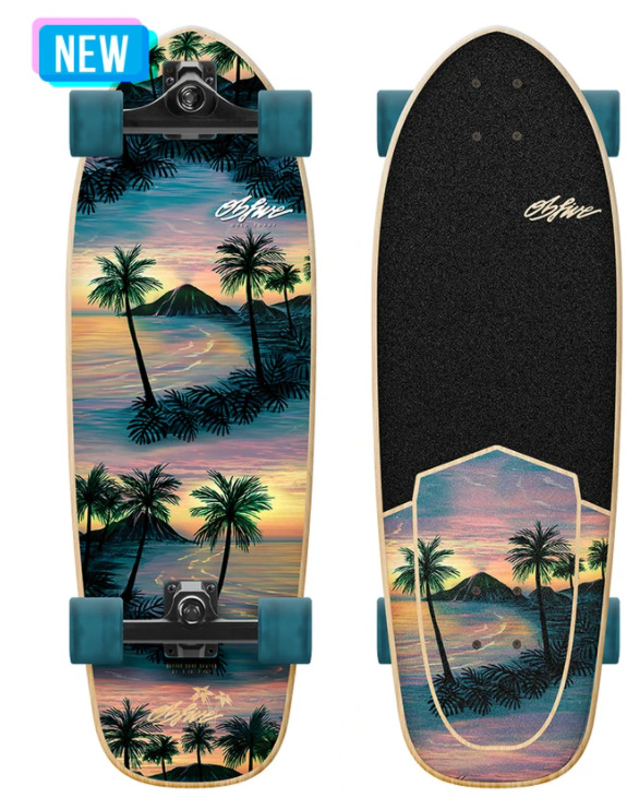OBfive Happy Hour RKP1 Surf Skate 31 Skateboard Complete