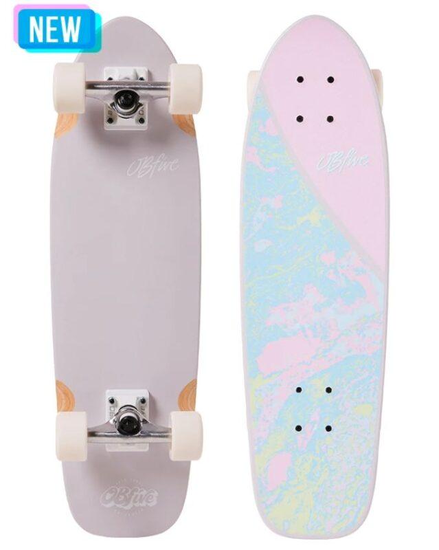 OBfive Pastel Plasma Dusty Lavender 28 Cruiser Skateboard Complete