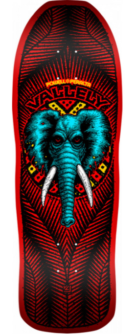 Powell Peralta Mike Vallely Elephant Red 10 Skateboard Deck