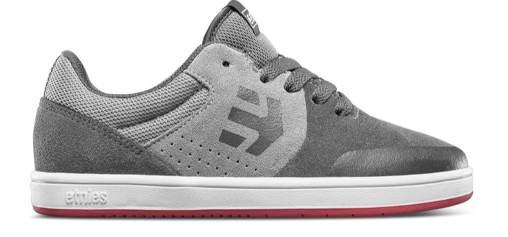 Etnies Marana Kids Grey/Light Grey/Red Shoes